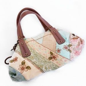 5e78341564 Fossil Bags - Fossil shoulder bag boho patchwork embroidery